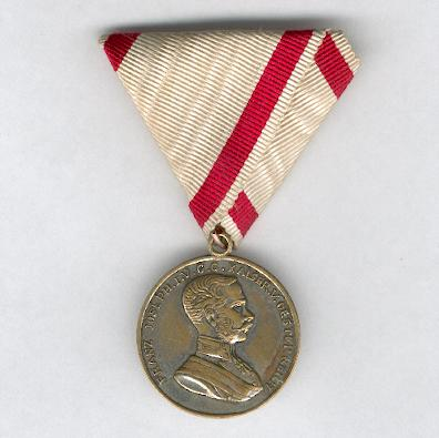 Silvered bronze medal, Emperor Franz Joseph I issue, 1866-1916