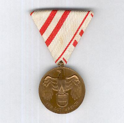 Great War Commemorative Medal (Kriegserinnerungsmedaille), 1914-1918