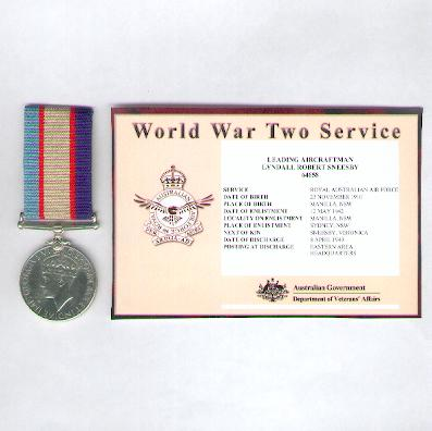 Australia Service Medal, 1939-1945, attributed, Royal Australian Air Force