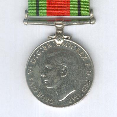 Defence Medal, 1939-1945, attributed to N238592 Leonard Noel Gosbell