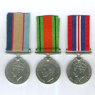 World War II Trio: Australia Service Medal 1939-1945, Defence Medal 1939-1945 and War Medal 1939-1945, attributed to NX3314 Corporal Jeffrey Denbigh Hope
