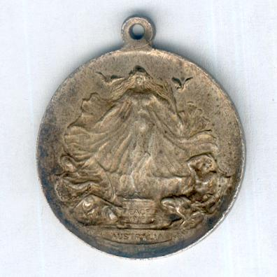 Peace Medal 1919, silvered, by Stokes & Sons Pty Ltd of Melbourne