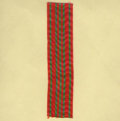 BELGIUM. Ribbon for the War Cross (Coup de ruban pour la Croix de Guerre / Lint voor het Oorlogskruis) 1914-1918