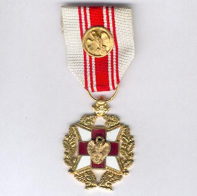Belgian Red Cross Blood Donor Award with gold citation