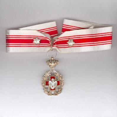 Belgian Red Cross Blood Donor Award with neck ribbon and two silver citations