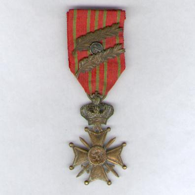 War Cross (Croix de Guerre / Oorlogskruis) 1914-1918 with two palm and one lion citations