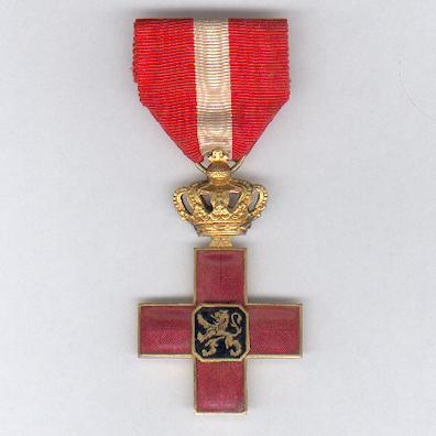 Cross of Honour of the Belgian Red Cross (Croix d'Honneur de la Croix Rouge de Belgique/ Erekruis van het Belgische Rode Kruis), 1940-1945