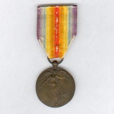Inter-Allied Victory Medal, Belgian unofficial issue type 3, with blank reverse (Médaille Inter-Alliée de la Victoire, dos lisse / Intergeallieerde Overwinningsmedaille, keerzijde plat), 1914-1918
