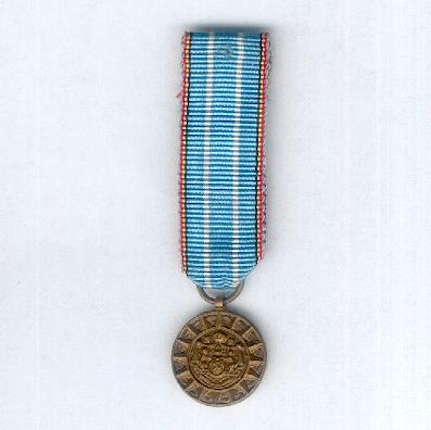 Commemorative Medal for Foreign Operations (Médaille Commemorative pour Opérations à l'Etranger / Herinneringsmedaille voor Buitenlandse Operaties), miniature