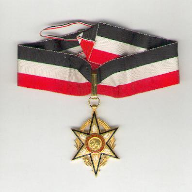 National Order of Upper Volta, commander, in case of issue (Ordre National Voltaïque, commandeur, dans son écrin d'origine), 1961-1993 issue, by Arthus Bertrand of Paris
