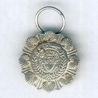 Uncertain silver medal with the arms of Bahrain, miniature