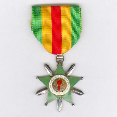 Republic of Dahomey, Order of Merit of Benin, knight, 2nd version (République du Dahomey, Ordre du Mérite du Bénin, chevalier, 2ème modèle)