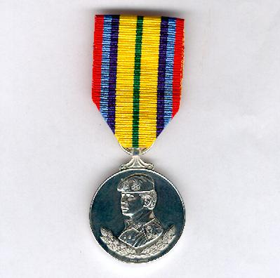 Medal for the Silver Jubilee of the Royal Brunei Armed Forces (Pingat Jubli Perak Angkatan Bersenjata Diraja Brunei) 1986, unnamed as issued, by Spink of London