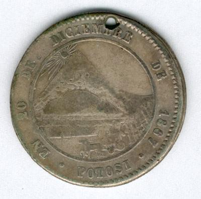 Commemorative Medal for the Entry into Potosí of President Melgarejo, 1867