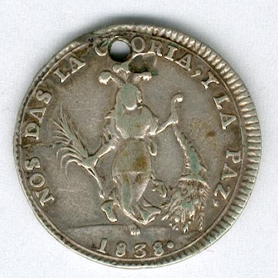 Medal for the Peruvian-Bolivian Confederation, 1838