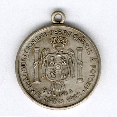 Commemorative Medal for the Inauguration of the Potosí Railway, 15 May 1912