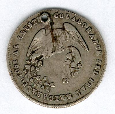 Medal for Dr Muñoz, Secretary of State, 1865