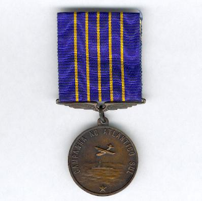 Medal for the South Atlantic Campaign (Medalha Campanha do Atlântico Sul), 1942-1945