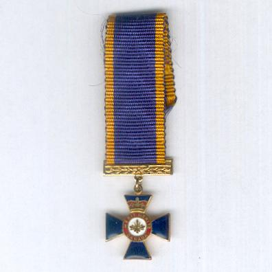 Order of Military Merit, officer (Ordre du mérite militaire, officier), miniature
