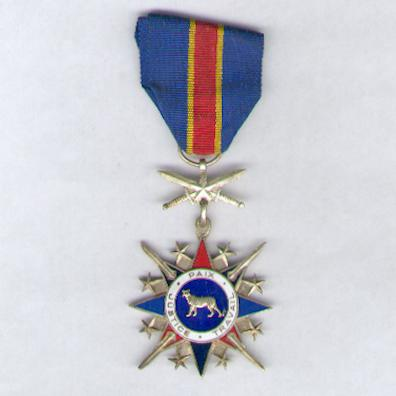 National Order of the Leopard, military division, knight (Ordre National du Léopard, division militaire, chevalier)