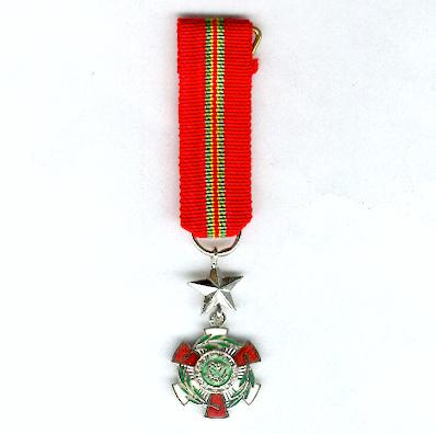 Order of Zaire, knight, civil division (Ordre du Zaïre, chevalier, division civile), 1978-1997 issue, miniature