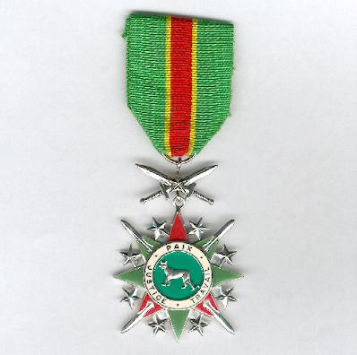 National Order of the Leopard, military division, knight (Ordre National du Léopard, division militaire, chevalier), 1971-1997 issue
