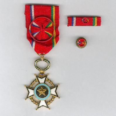 Order of Central African Merit, officer (Ordre du Mérite Centrafricain, officier) with ribbon bar and buttonhole rosette
