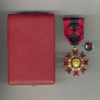 Order of Congolese Merit, officer, with lapel buttonhole rosette, in fitted case of issue (Ordre du Mérite Congolais, officier, avec sa rosette, dans son écrin d'origine) by Arthus Bertrand, Paris