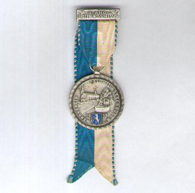 BALLWIL-OTTENHUSEN.  Army League Standing Open Shooting Award (Wehrverein Stander�ffnungsschiessen Auszeichnung), 1953, by Huguenin Fr�res of Le Locle