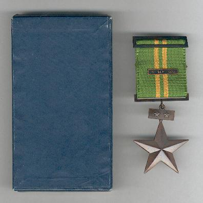 Distinguished Service Decoration, Army, II class, with '11 September 1973' bar, in case of issue