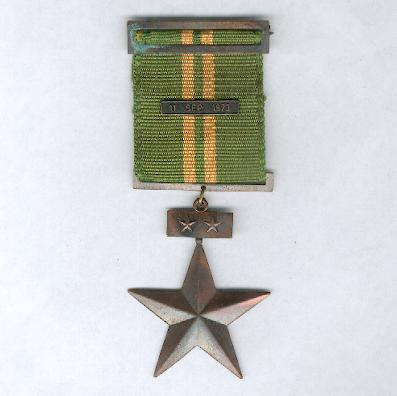 Distinguished Service Decoration '11 September', Carabiniers, II Class for Officers (Condecoración 'Servicios Distinguidos 11 de septiembre', Carabineros, II Clase por Oficiales)