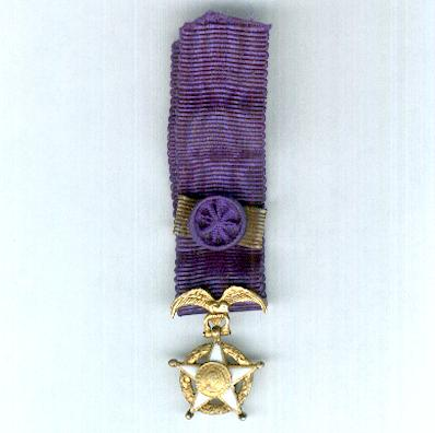 National Order of Merit of Chile, Grand Cross (Orden Nacional al Merito de Chile, Gran Cruz), miniature