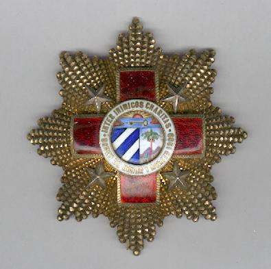 Order of Merit and Honour of the National Red Cross, Grand Cross (Orden de Honor y Mérito de la Cruz Roja Cubana, Gran Cruz) by Boullanger, Paris