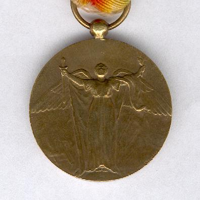 Inter-Allied Victory Medal, Cuban official issue, 1917-1919
