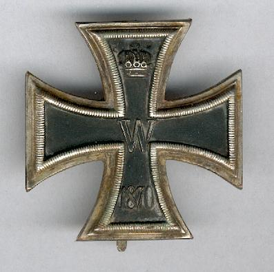 PRUSSIA.  Iron Cross I class (Eiserne Kreuz, I. Klasse), 1870 issue, probably a later strike, by Resch und Sohn