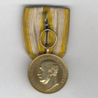 HANOVER.  Commemorative Medal for Langensalza, brass (HANNOVER. Langensalza-Medaille, Kriegsdenkmünze, Messing), 1866, attributed, parade-mounted
