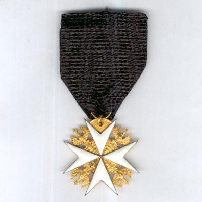 Bailiwick of Brandenburg of the Chivalric Order of Saint John of the Hospital at Jerusalem, Cross of Honour (Balley Brandenburg des Ritterlichen Ordens Sankt Johannis vom Spital zu Jerusalem, Kreuz der Ehrenritter), since 1852