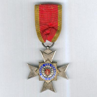 SCHAUMBURG-LIPPE.  Princely Lippish House Order, Cross of Merit IV class (Fürstlich Lippischer Hausorden, Ehrenkreuz 4. Klasse), 1890-1918 issue