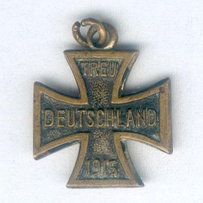 GERMAN EMPIRE.  Patriotic Cross 'Loyal Germany' (DEUTSCHES REICH. Patriotische Kreuz 'Treu Deutschland') 1915, miniature