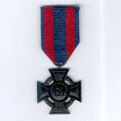 OLDENBURG.  Friedrich August Cross, II class, on combatant's ribbon (Friedrich August-Kreuz, 2. Klasse, am Kämpferband), 1914-1918