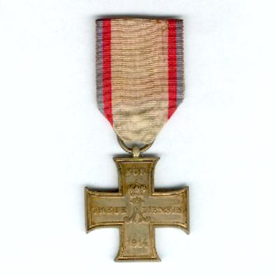 SCHAUMBURG-LIPPE.  Cross for Loyal Service, on non-combatant's ribbon (Kreuz für treue Dienste, am Nichtkämpferband), 1914-1918