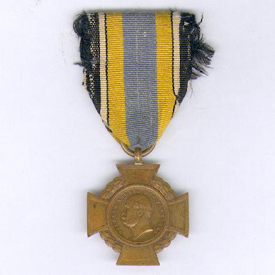 PRUSSIA.  Alsen Cross on combatant's ribbon (PREUSSEN. Alsen-Kreuz am Kämpferband), 1864