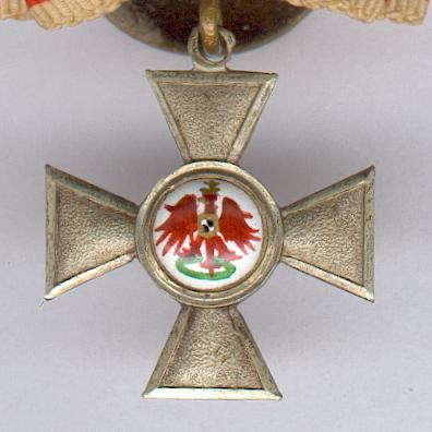 PRUSSIA.  Order of the Red Eagle IV class (PREUSSEN. Rote Adler Orden, IV. Klasse) mounted for buttonhole wear, miniature