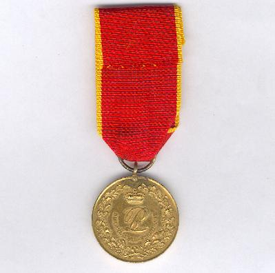 LIPPE-DETMOLD.  Military Merit Medal, first version - without swords (Militär-Verdienstmedaille, I. Prägung - ohne Schwertern), 1832-1915 issue