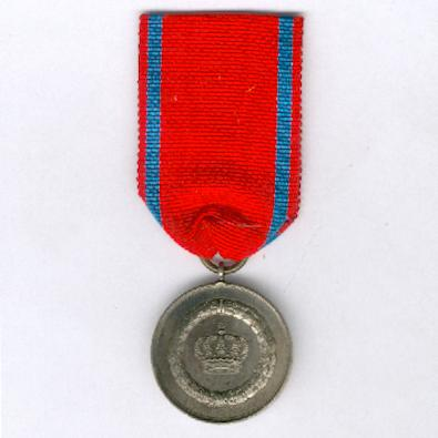 WURTTEMBERG.  Long Service Decoration III class for 9 years' service, nickel silver medal, 1913-1917 issue (WÜRTTEMBERG.  Dienstauszeichnung III. Klasse für 9 Dienstjahre, Medaille aus Neusilber, verliehen 1913-1917)