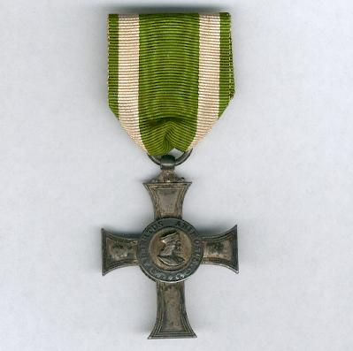 SAXONY, Kingdom.  Royal Saxon Albert Order, Albert Cross, silver, 1st type with separate centres (SACHSEN - Königreich.  Königlich Sächsischer Albrechtsorden, Albrechtskreuz, Silber, 1. Form mit separaten Medaillons), 1876-1909 issue