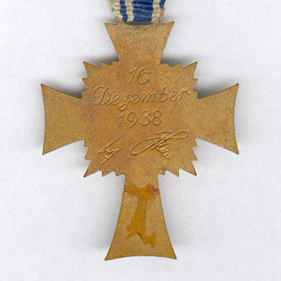 Cross of Honour of the German Mother, III class, 2nd version (Ehrenkreuz der Deutschen Mutter, III Stufe, 2. Form), 1939-1944
