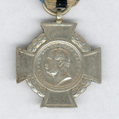 PRUSSIA.  Duppel Storm Cross on ribbon for Reserve Troops (PREUSSEN. Düppeler Sturmkreuz am Band für Reservetruppen), 1865