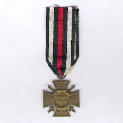 Cross of Honour of the World War, Combatant (Ehrenkreuz des Weltkrieges, Frontkämpfer), 1914-1918, maker 'O&B'