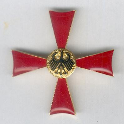 FEDERAL REPUBLIC OF GERMANY.  Order of Merit, Cross of Merit I class for Men (BUNDESREPUBLIK DEUTSCHLAND. Verdienstorden, Verdienstkreuz 1. Klasse für Herren), probably by Albrecht Bender & Co of Weissenburg, Bavaria